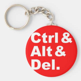 Ctrl & Alt & Del Keychain