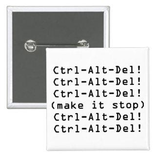Ctrl-Alt-Del Pin Cuadrada 5 Cm