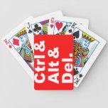 Ctrl & Alt & Del Playing Cards