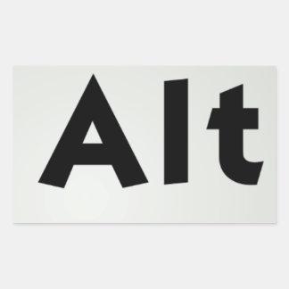 Ctrl Alt Del Rectangular Sticker