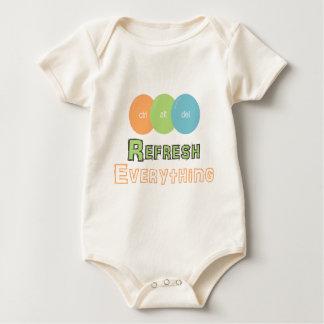 ctrl alt del Refresh Everything Baby Bodysuit