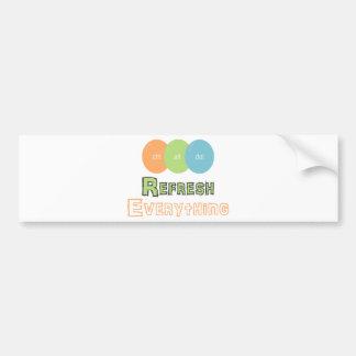 ctrl alt del Refresh Everything Bumper Sticker
