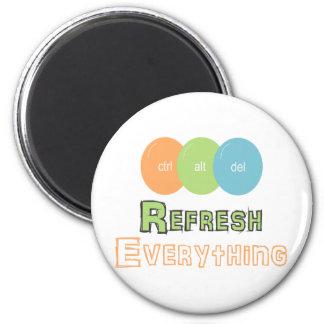 ctrl alt del Refresh Everything Fridge Magnets