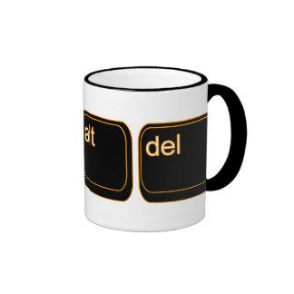 Ctrl Alt Del Ringer Mug