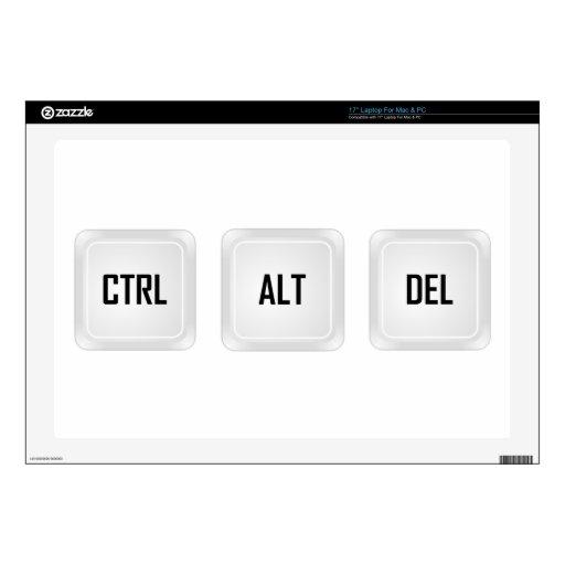 """Ctrl Alt Del Skin For 17"""" Laptop"""