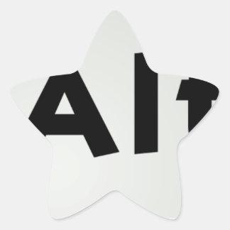 Ctrl Alt Del Star Sticker