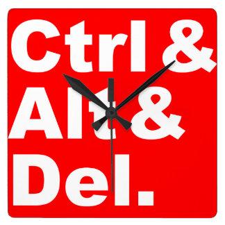 Ctrl & Alt & Del Wall Clock