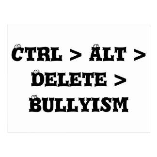 Ctrl > Alt > Delete > Bullyism - Anti Bully Postcard