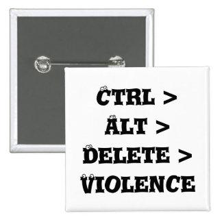 Ctrl > Alt > Delete > Violence - Anti Bully Pin