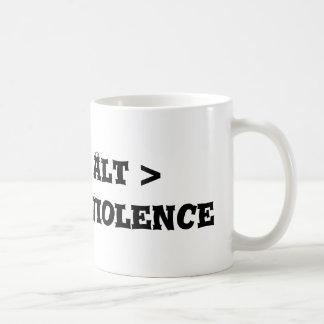 Ctrl > Alt > Delete > Violence - Anti Bully Coffee Mugs