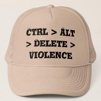Ctrl > Alt > Delete > Violence - Anti Bully Trucker Hat