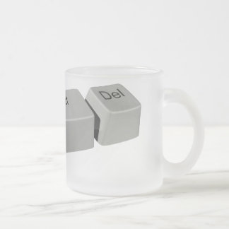 Ctrl Alt LED 10 Oz Frosted Glass Coffee Mug