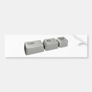 Ctrl Alt LED Car Bumper Sticker