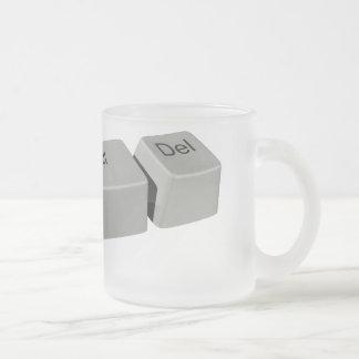 Ctrl Alt LED Frosted Glass Coffee Mug