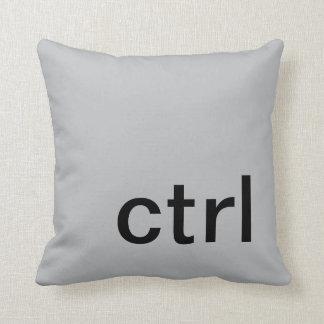 ctrl button pillow, Gray & Black Pillow