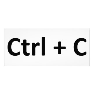Ctrl C Ctrl V Copy Paste Twins Rack Card