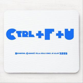Ctrl+F+U White Mouse Pad