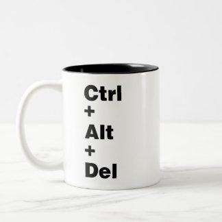 Ctrl mug+Alt+Del Two-Tone Coffee Mug