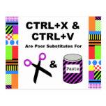 CTRL+X & CTRL+V vs. Scissors & Paste Postcard