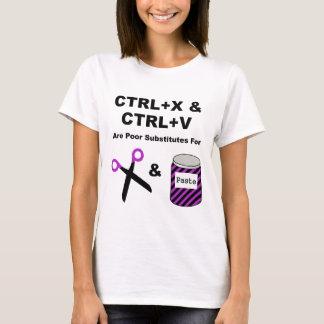 CTRL+X & CTRL+V vs. Scissors & Paste T-Shirt