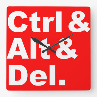 Ctrl y Alt y reloj de pared de Del
