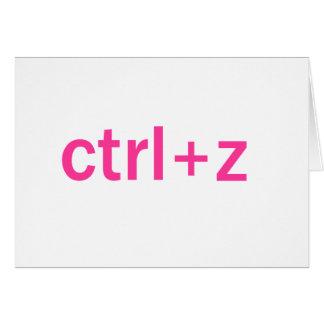 ctrl + z greeting card