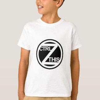 Ctrl Z ESTA camiseta de la juventud Remeras