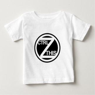 Ctrl Z ESTA camiseta infantil Playeras