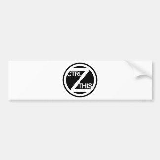 Ctrl Z ESTA pegatina para el parachoques Etiqueta De Parachoque