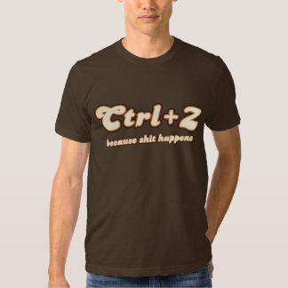 Ctrl + Z porque… Camiseta Playeras