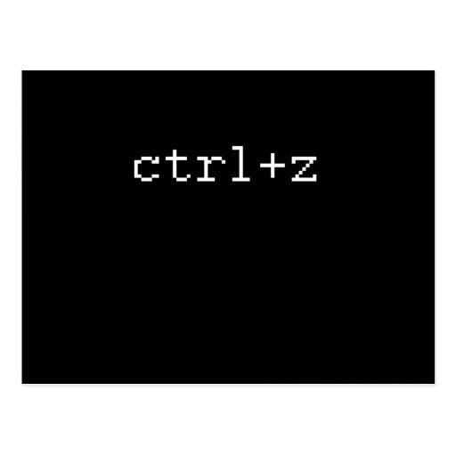 CTRL Z POSTCARD