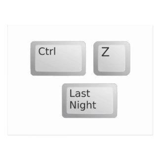 Ctrl Z Undo Last Night Please Postcard