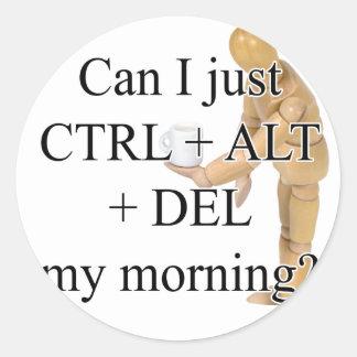 CtrlDelete Round Stickers