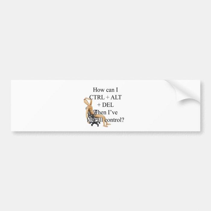CtrlDeleteChair Bumper Sticker