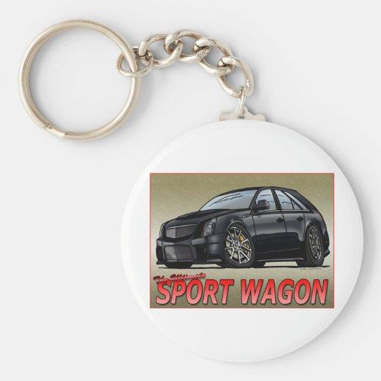 CTS_V_WAGON_black Keychain