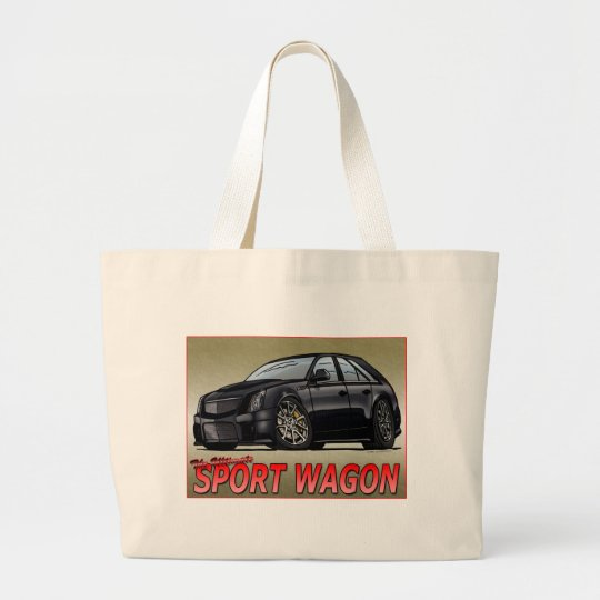 CTS_V_WAGON_black Large Tote Bag