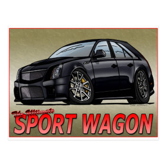 CTS_V_WAGON_black Postcard
