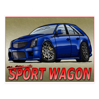 CTS_V_WAGON_blue Postcard