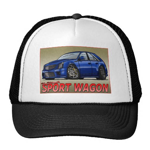 CTS_V_WAGON_blue Trucker Hat