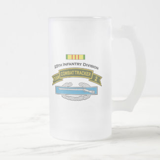 CTT-2 - 25th Infantry Frosted Glass Beer Mug