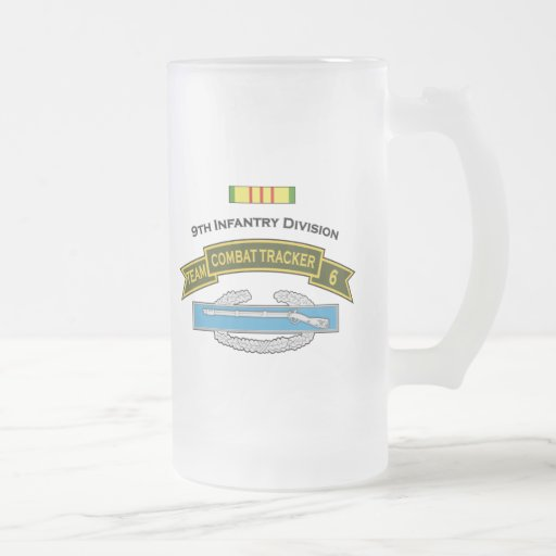 CTT-6 - 9th Infantry Frosted Glass Beer Mug