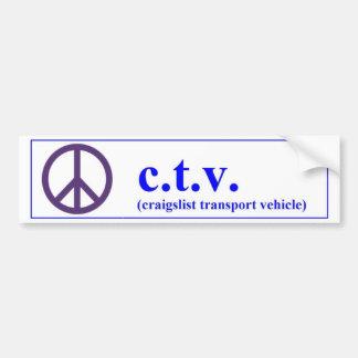 CTV craigslist transport vehicle Car Bumper Sticker