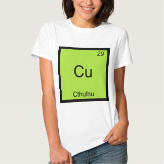 Cu - camiseta divertida del símbolo del elemento camisas