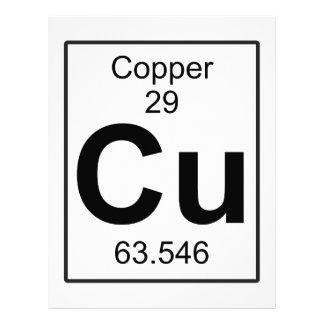 Cu - Copper Letterhead