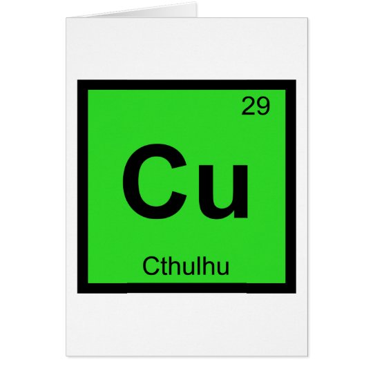 Cu Cthulhu Chemistry Periodic Table Symbol Zazzle