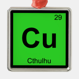 Cu - Cthulhu Chemistry Periodic Table Symbol Ornament