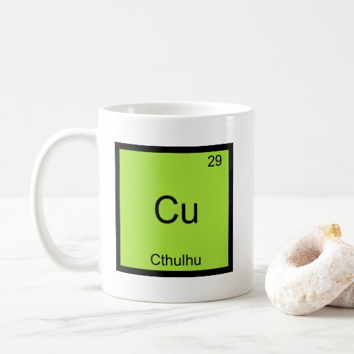 Cu - Cthulhu Funny Chemistry Element Symbol Tee Coffee Mug