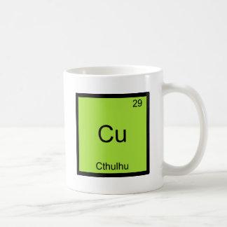 Cu - Cthulhu Funny Chemistry Element Symbol Tee Classic White Coffee Mug