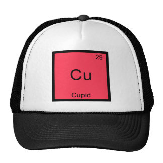 Cu - Cupid Funny Chemistry Element Symbol T-Shirt Trucker Hat