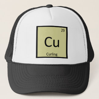 Cu - Curling Sports Chemistry Periodic Table Trucker Hat